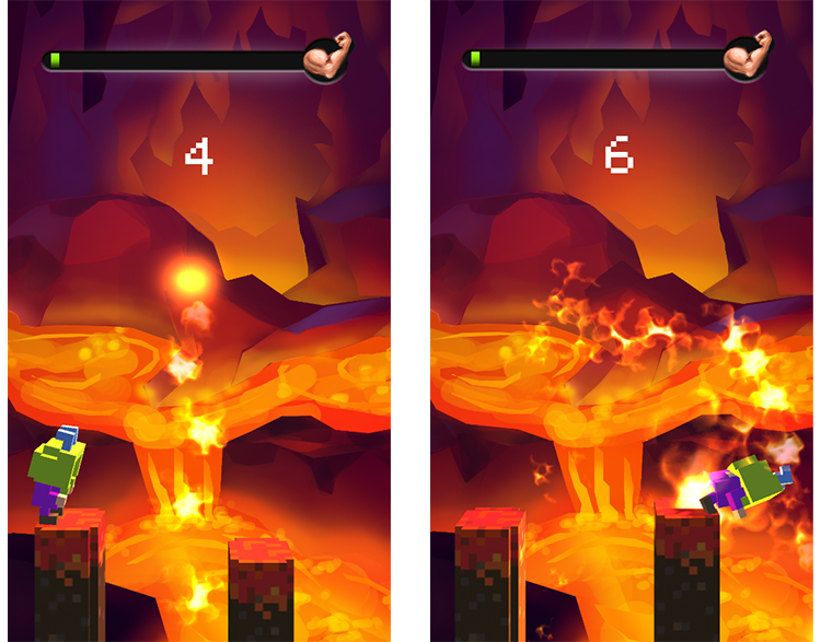 jump hero lava level game